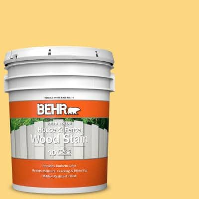 Behr 5 Gal 350c 3 Applesauce Solid Color House And Fence Exterior Wood Stain 01105 The Home Depot