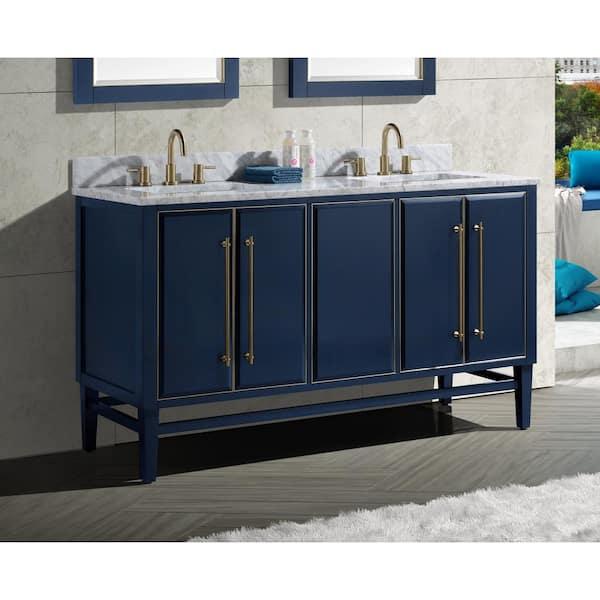 Bath Vanity Cabinet Only In Navy Blue, Blue Bathroom Vanity Cabinet