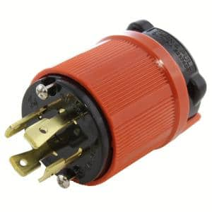 NEMA L15-30P 3-Phase 30 Amp 250-Volt 4-Prong Locking Male Plug with UL, C-UL Approval