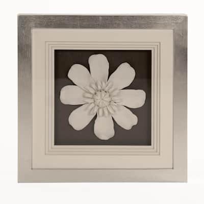 Ceramic Magnolia Flower Wall Art