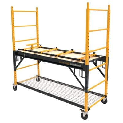 Scaffold Bench 6 ft. x 6.2 ft. x. 2.5 ft. Multi-Purpose 4-in-1 Scaffold 1100 lbs. Load Capacity