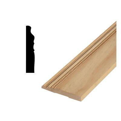 DM 550 - 11/16 in. x 4-15/16 in. Solid Pine Base Moulding