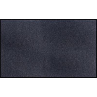 Otto Grip Collection Gray 36 in. x 60 in. PVC Backing Solid Indoor/Outdoor Door Mat