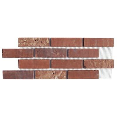 Brickwebb Independence Thin Brick Sheets - Flats (Box of 5 Sheets) - 28 in x 10.5 in (8.7 sq. ft.)