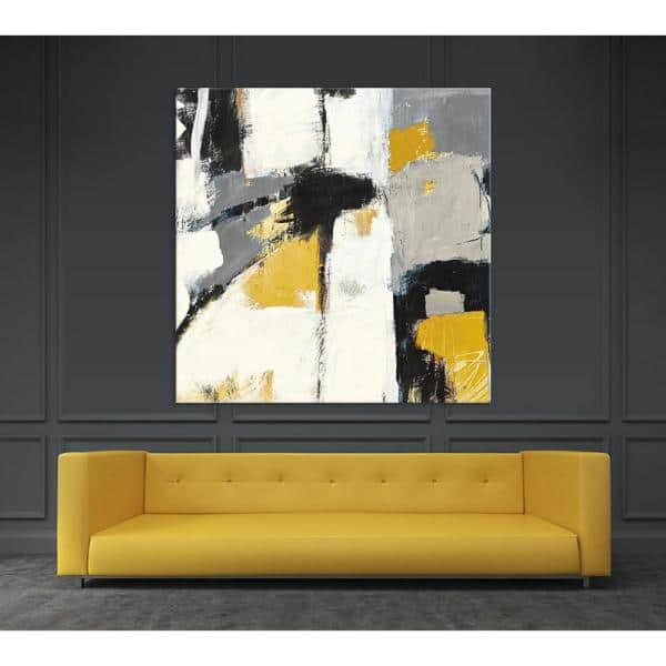 Clicart 54 In X 54 In Yellow Catalina I By Mike Schick Printed Framed Canvas Wall Art Gwa6612k2 The Home Depot