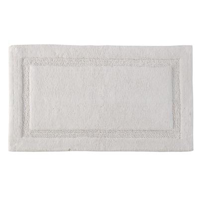 Regency 34 in. x 21 in. Washable Bath Rug in White
