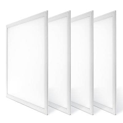 2 ft. x 2 ft. White Integrated LED Dimmable Edge Lit Panel, 4000K (4-Pack)