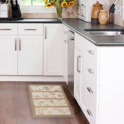 Floral Panels 20 in. x 32 in. Anti-Fatigue Gelness Kitchen Mat