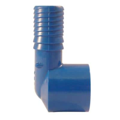 3/4 in. Polypropylene Blue Twister Insert 90-Degree x FPT Elbow