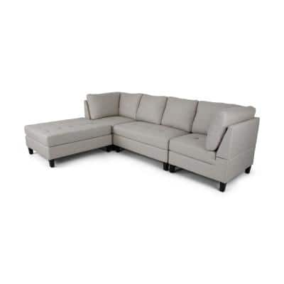 Becket 4-Piece Beige Fabric Sectional