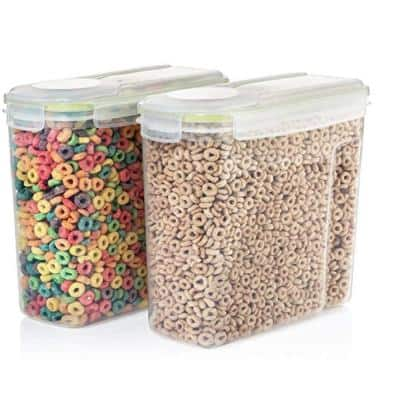 4 l Capacity BPA Free Plastic Cereal Storage Container Set