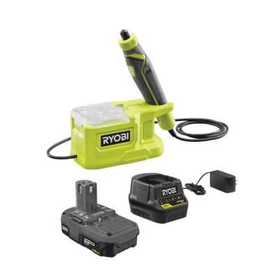 ONE+ 18V Cordless Precision Rotary Tool Kit with Precision Rotary Accessories, 1.5 Ah Lithium-Ion Battery, and Charger