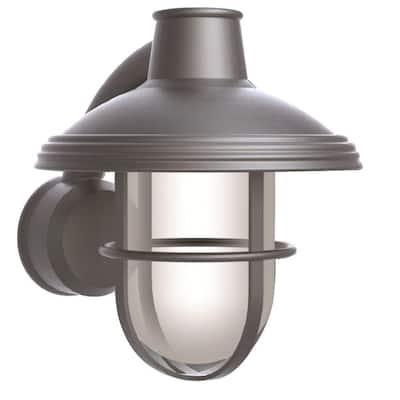 Bayview Satin Nickel Outdoor Wall-Mount Lantern Sconce