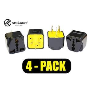 Universal to Australia Plug Adapter (4-Pack)
