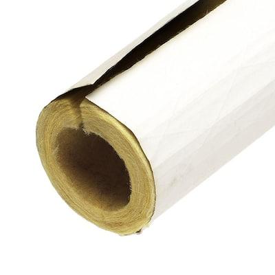1-1/2 in. x 3 ft. Fiberglass Self-Sealing Pre-Slit Pipe Cover