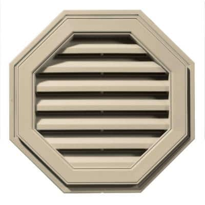22 in. x 22 in. Octagon Brown/Tan Plastic Weather Resistant Gable Louver Vent