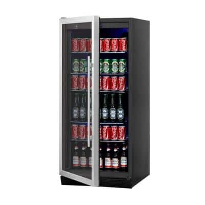 Single Zone 23.54 in. 300 (12 oz.) Stainless Steel Beverage Can Cooler