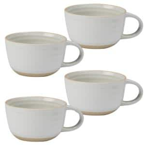 Artisan 4-Piece Traditional Cream Ceramic Dinnerware Set (Service for 4)