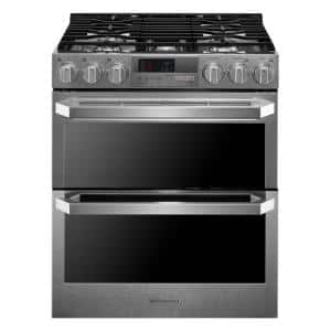7.3 cu. ft. Smart Slide-In Double Oven Dual-Fuel Range with ProBake Convection & Wi-Fi Enabled in Stainless Steel