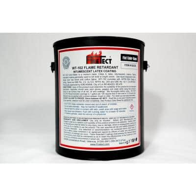 WT-102 1 gal. Color Base Flat Latex Fireproofing Flame Retardant Paint for Wood