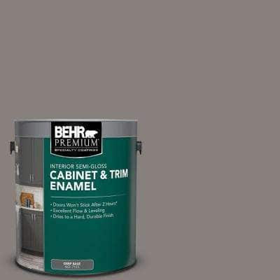 Behr Premium 1 Gal Ppu18 17 Suede Gray Semi Gloss Enamel Interior Cabinet And Trim Paint 712301 The Home Depot