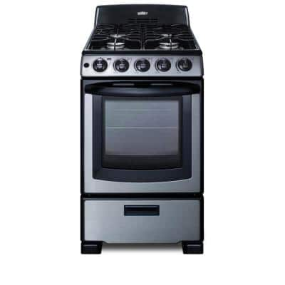 20 in. 2.3 cu.ft. Gas Range in Stainless Steel