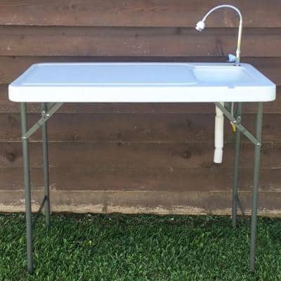 Folding Fish Table with Game Table with Faucet