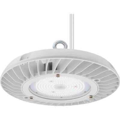 Contractor Select JEBL 1.31 ft. 575-Watt Equivalent Integrated LED Dimmable White High Bay Light Fixture, 4000K