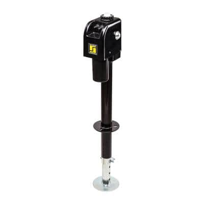 3500 lb. Black Electric Tongue Jack with Light