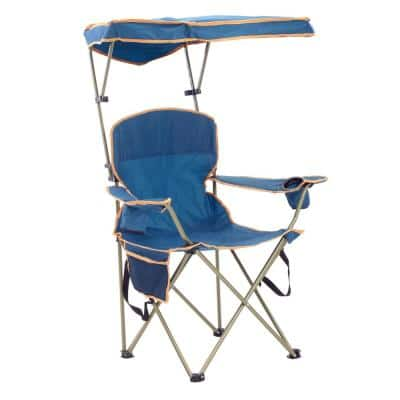 MAX Navy Polyester and Nylon Camp Chair