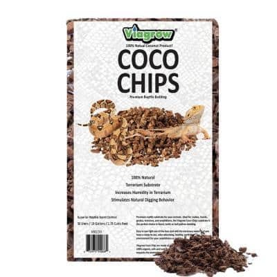 1.75 cu. ft. Premium Coconut Reptile Substrate Bedding 52 qts. / 50 l. / 13 Gal. (90-Pack, Pallet)