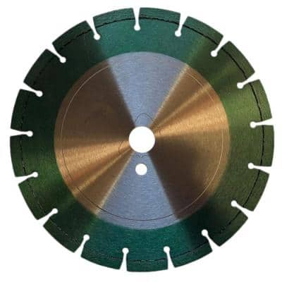 12 in. Green Concrete Diamond Saw Blade for Early Entry Cutting - Soft Bond