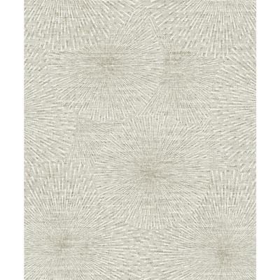 Zion Taupe Starburst Grey Wallpaper Sample