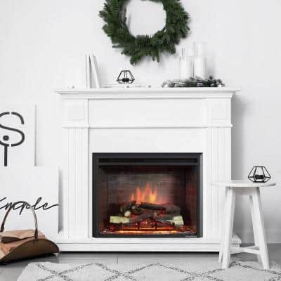 35.04 in. Ventless Electric Fireplace Insert