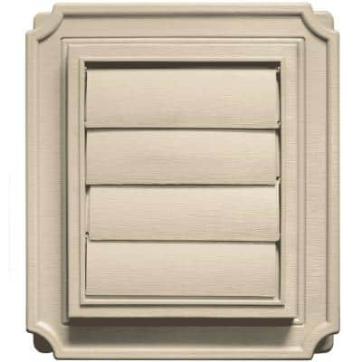 7.875 in. x 7.875 in. #011 Sandalwood Scalloped Exhaust Siding Vent