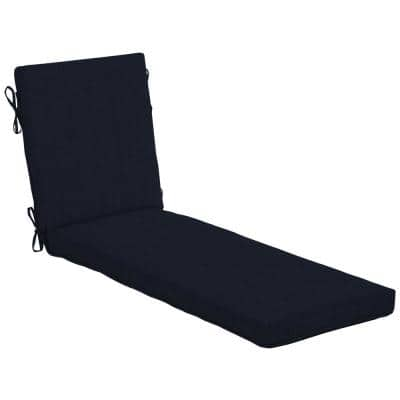 21 in. x 24 in. Midnight Outdoor Chaise Lounge Cushion