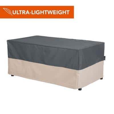 Renaissance Ultralite Water Resistant Outdoor Patio Coffee Table/Ottoman Cover, 48 in. W x 25 in. D x 18 in. H, Gray
