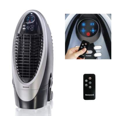 420 CFM 4-Speed Indoor Portable Evaporative Air Cooler (Swamp Cooler) with Remote Control for 175 sq. ft.
