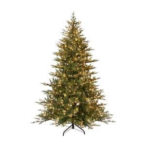 9 ft. Pre-Lit Balsam Fir Artificial Christmas Tree with 1000 UL-Listed Clear Incandescent Lights