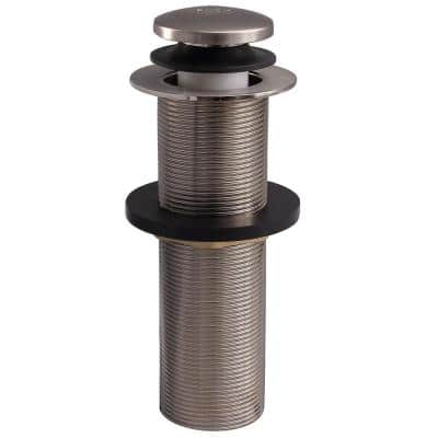 2 in. Extended Push Button Tub Drain Stopper, Brushed Nickel