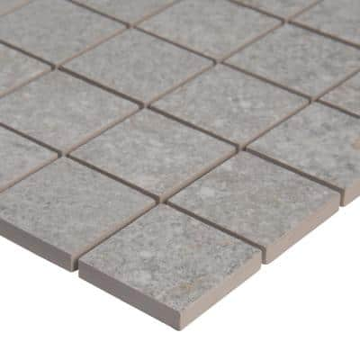 Brixstyle Glacier 12 in. x 12 in. x 10mm Matte Porcelain Mesh-Mounted Mosaic Tile (6 sq. ft./Case)