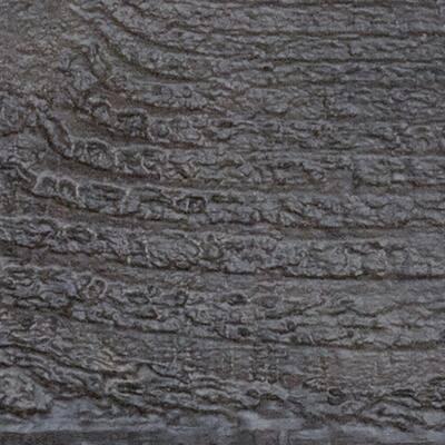 SAMPLE - 1 in. x 6 in. x 6 in. Burnished Cedar Polyurethane Rough Sawn Faux Wood Moulding