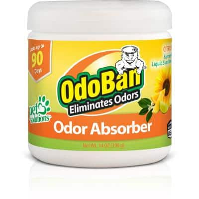 14 oz. Citrus Solid Odor Absorber, Odor Eliminator for Smoke Odor & Musty Smell in Home, Bathroom, Kitchen, Pet Areas
