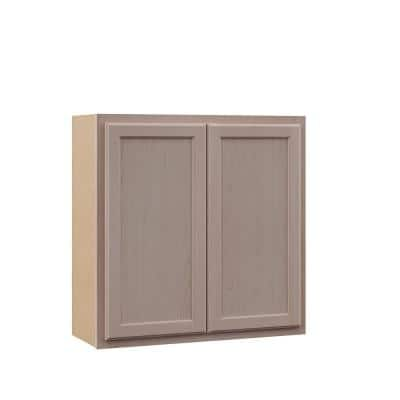 Hampton Unfinished Beech Raised Panel Stock Assembled Wall Kitchen Cabinet (30in. x 30 in. x 12 in.)