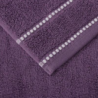 Zero Twist Quick Dry 6-Piece Eggplant Solid Cotton Bath Towel Set