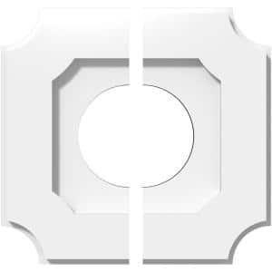 1 in. P X 6 in. C X 10 in. OD X 4 in. ID Locke Architectural Grade PVC Contemporary Ceiling Medallion, Two Piece