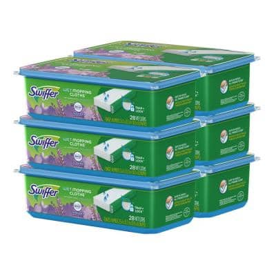 Sweeper Wet Cloth Refills with Febreze Lavender Vanilla and Comfort Scent (28-Count, 6-Pack)