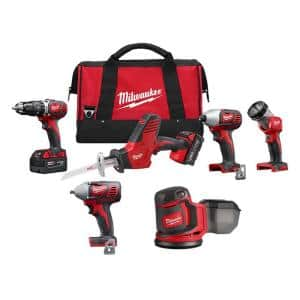 M18 18-Volt Lithium-Ion Cordless Combo Tool Kit (4-Tool) with Orbit Sander and 3/8 in. Impact Wrench