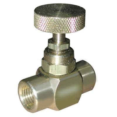 Brass Needle Valve for Pressure Gauge with 1/4 in. NPT Connections