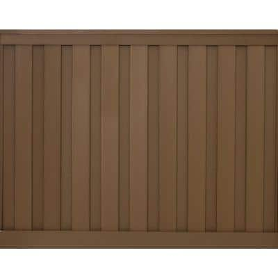 Seclusions 6 ft. x 8 ft. Saddle Brown Wood-Plastic Composite Board-On-Board Privacy Fence Panel Kit